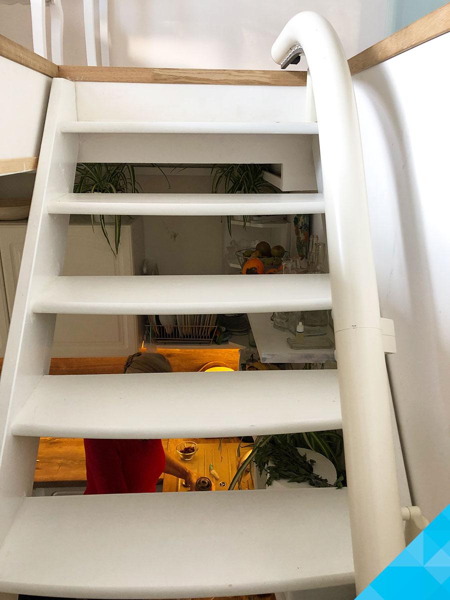 Koľajnica schodiskového výťahu
